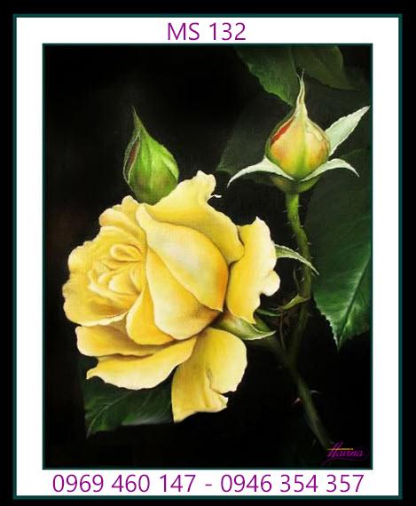tranh thêu hoa hồng 132