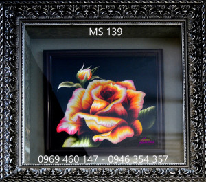 tranh thêu hoa hồng 139