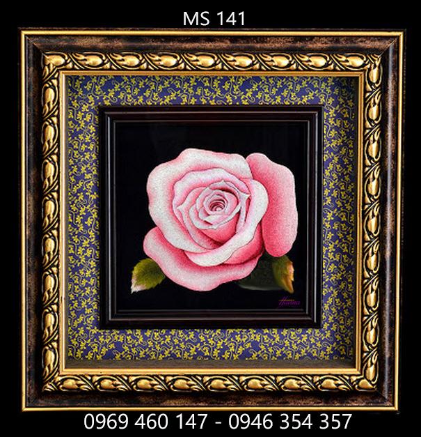 tranh thêu hoa hồng 141