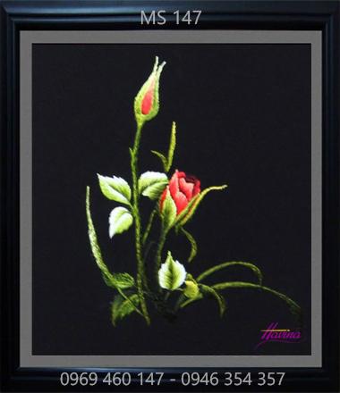 tranh thêu hoa hồng 147
