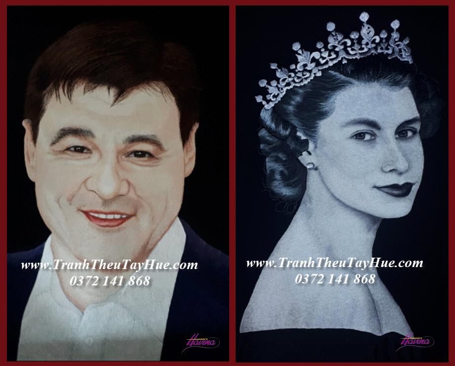 Tranh thêu chân dung làm quà tặng sếp người Nga