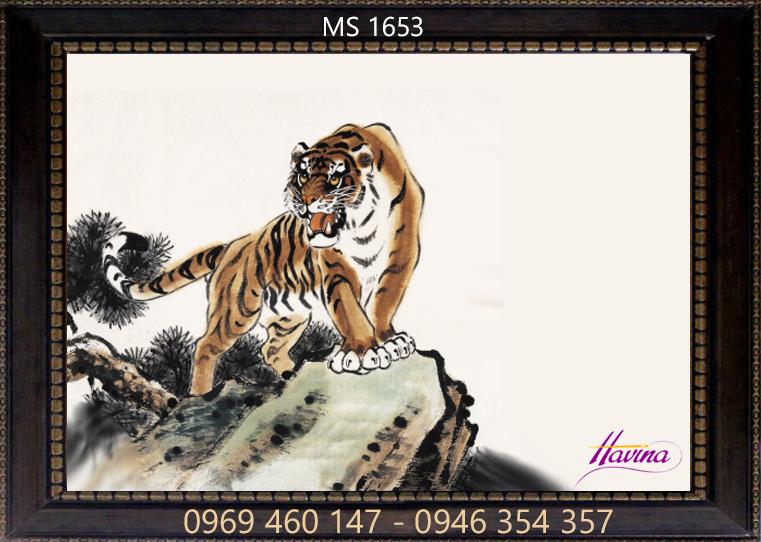 Tranh thêu con hổ ms 1653
