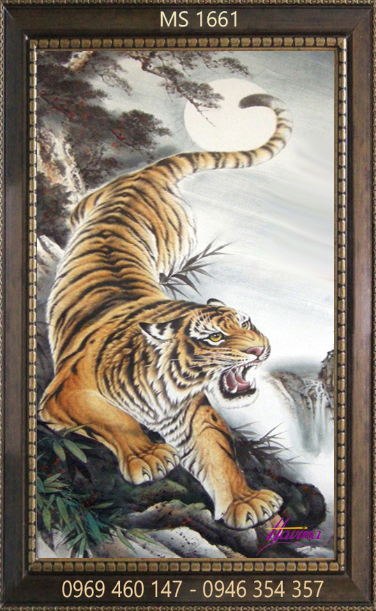 Tranh thêu con hổ ms 1661