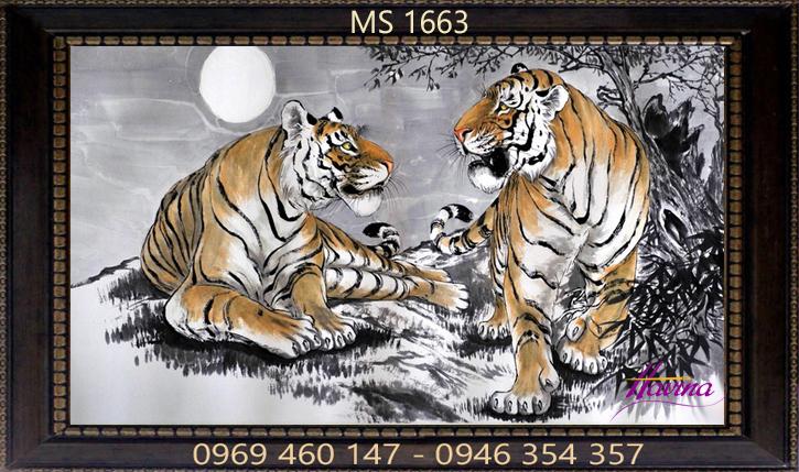Tranh thêu con hổ ms 1663