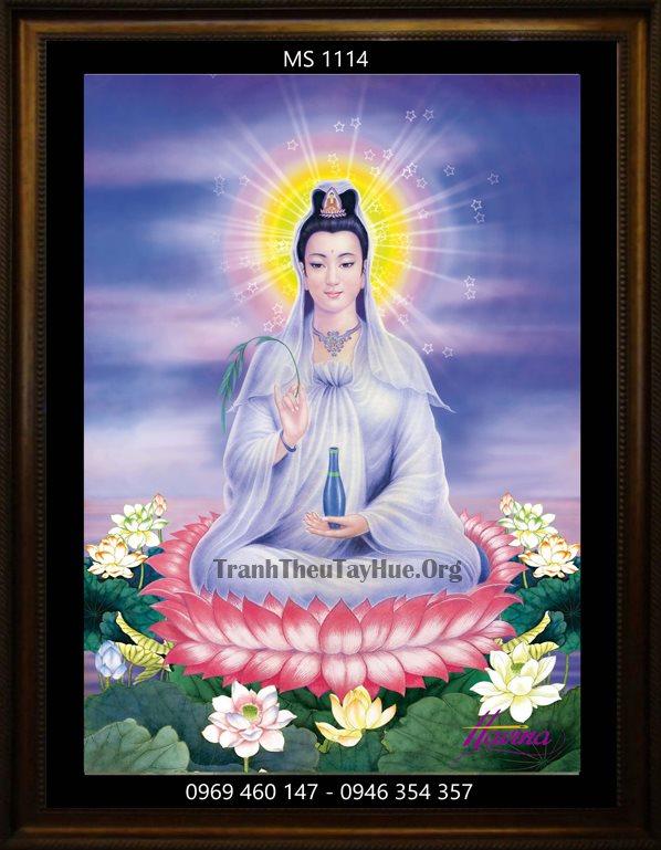 Tranh thêu Phật Bà Quan Âm