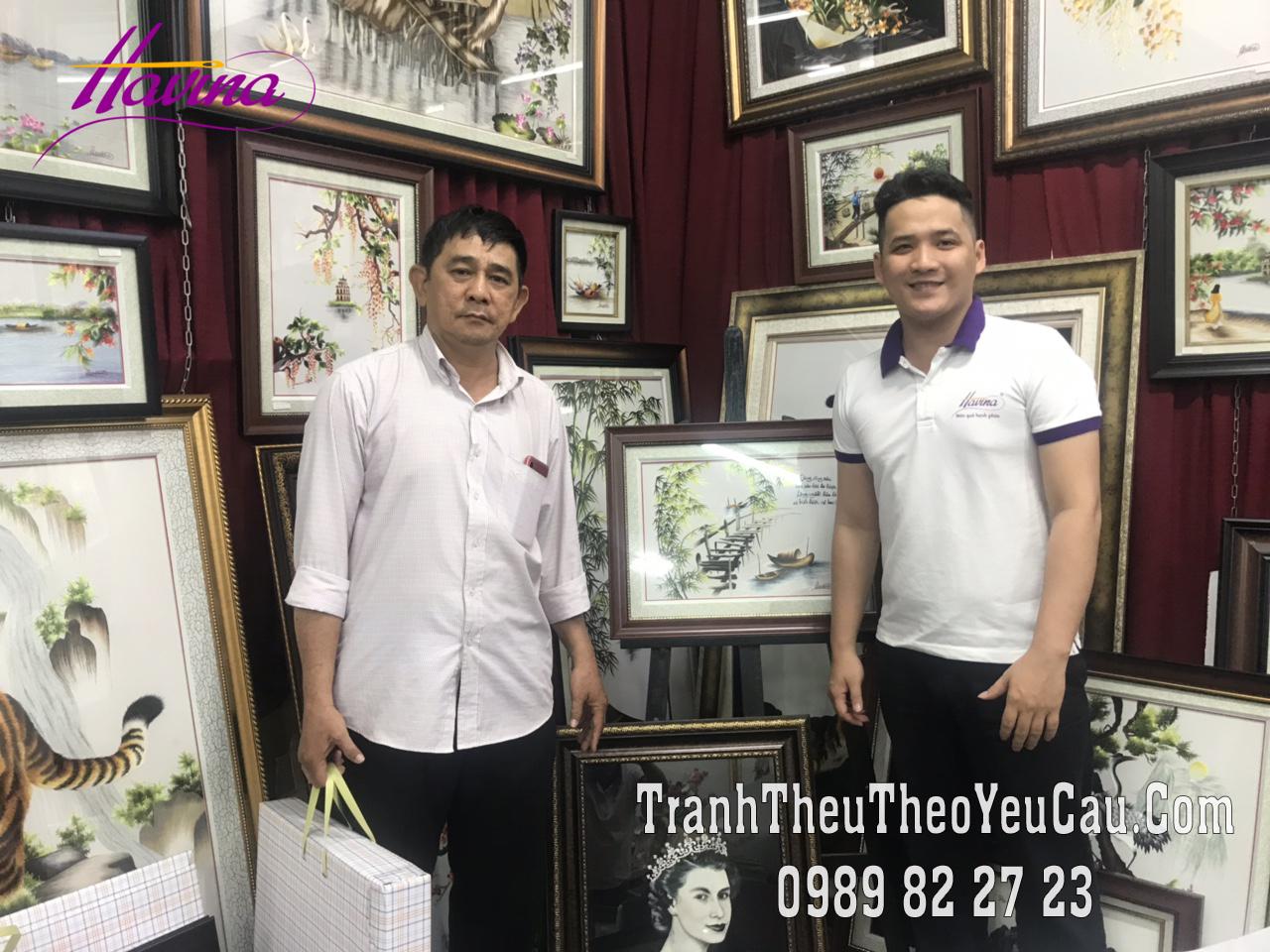 Những bức tranh thêu tặng thầy cô giàu cảm xúc trong dịp lễ Tri ân