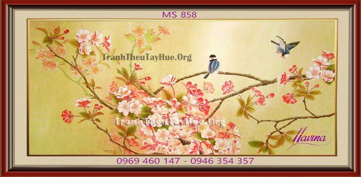 Tranh hoa đào cho ngày Xuân ấm áp, rạng ngời
