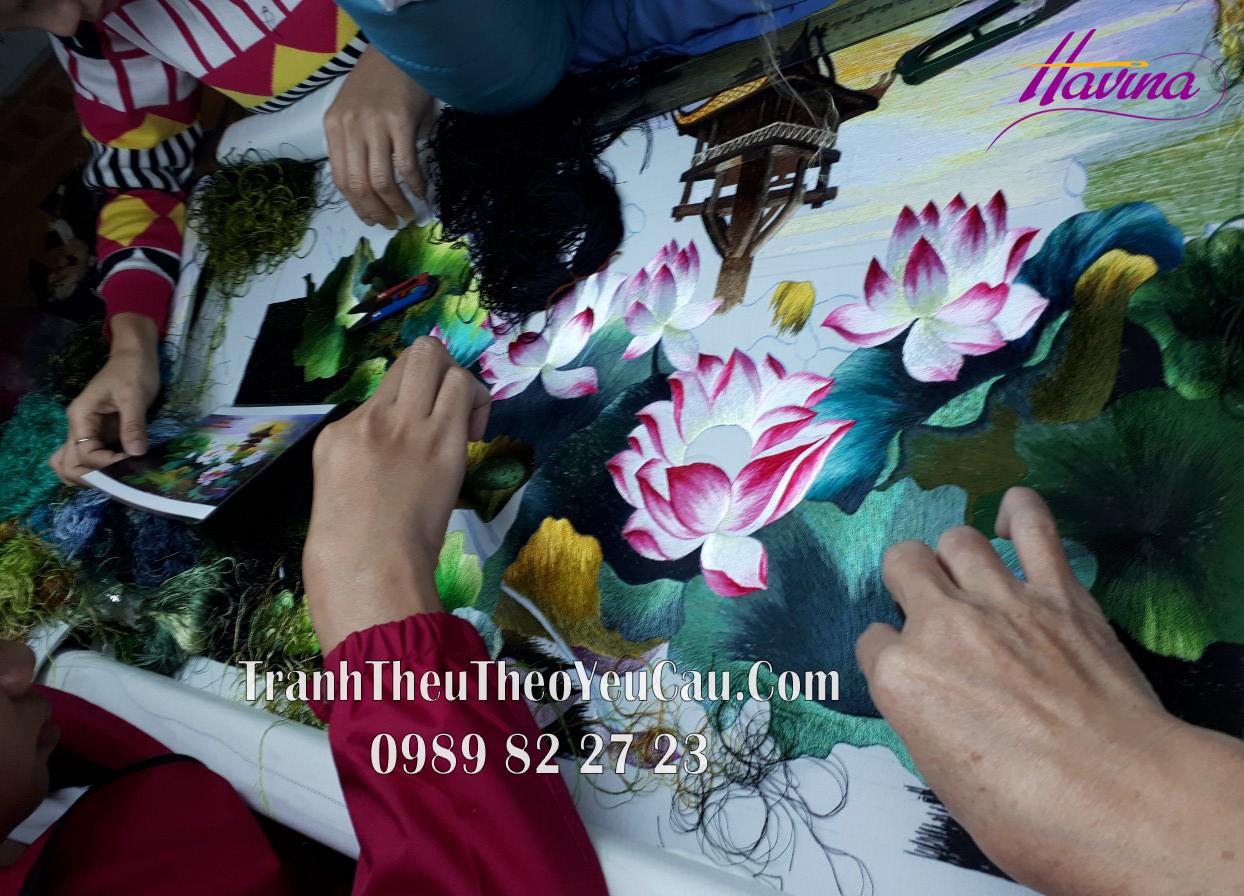 5 Vị trí treo tranh thêu tay phù hợp với không gian nhà bạn