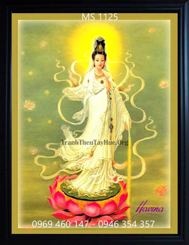 Chọn quà tặng tân gia, có nên mua tranh thêu Phật Bà Quan Âm ?