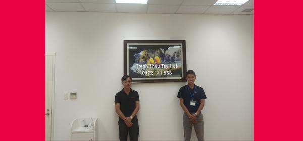 Tác phẩm tranh thêu thuận buồm xuôi gió được Công Ty TNHH Daiichi Jitsugyo Việt Nam chọn làm quà tặng đối tác