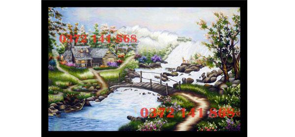 Tác phẩm tranh thêu Phong cảnh thiên nhiên được thực hiện theo yêu cầu của anh Bảo đến từ Khu Đô Thị Sala, Quận 2, TPHCM.